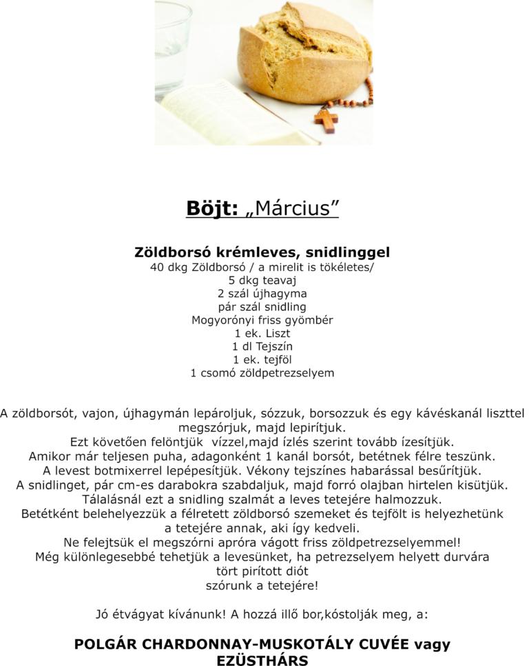 Honlapra_Böjti étel ajánlat